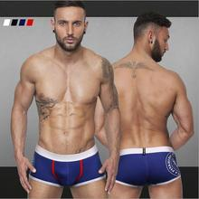 2015 new style pattern printed boxers men cueca for summer M-XXL underwear men Comfortable sexy shorts men ST507