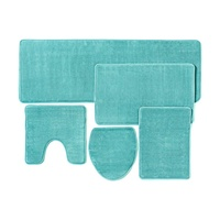 Bestseller 2019 soft washable eco-friendly toilet 5 piece bath rug set