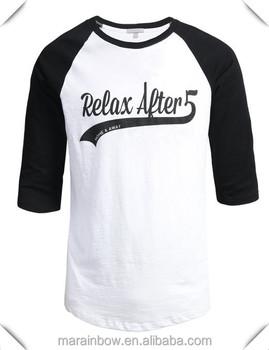 Poly cotton blend mens 3 4 raglan sleeve baseball t shirt for Poly blend t shirts wholesale
