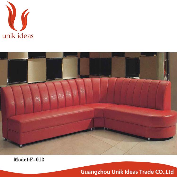 alime respaldo alto redondo sof asientos de cabina para el restaurante muebles