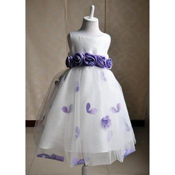 Neueste Farbe Erstkommunion Kleider Für Mädchen Lila Blütenblätter ...