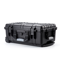 custom made Black Plastic box transport box with lock COMPUTER CASE