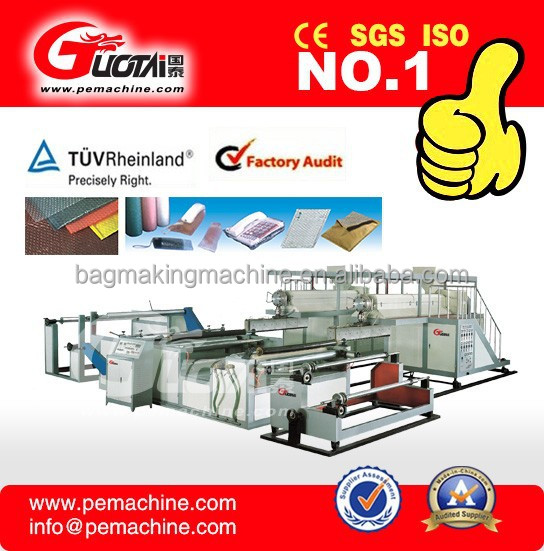 2015 hot sale air bubble sheet making machine supplier/ 5 layer polyethylene bubble film making machines