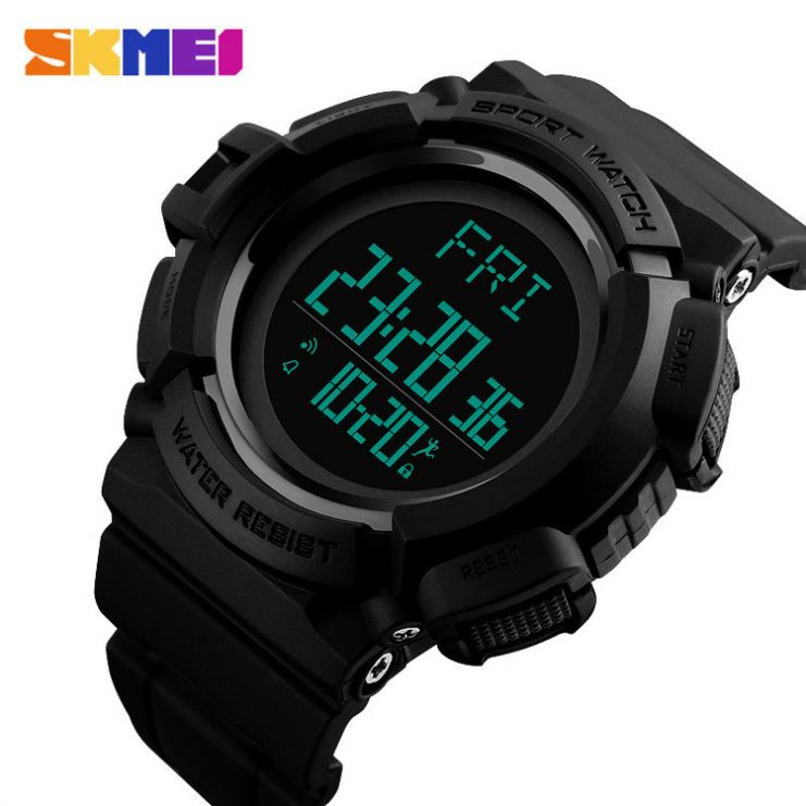 Digital Watches Capable Skmei 1354 Compass Calorie Digital Wristwatch Men Outdoor Sport Military Design Electronic Lcd Clock Countdown Relogio Masculino Fashionable And Attractive Packages