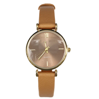 The latest small quartz square dial watch leather strap fancy lady watch