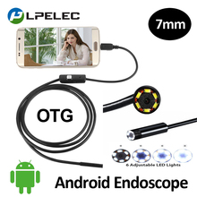 7mm Android Phone External Snake USB Endoscope Camera IP67 Waterproof Flexible Hard/Soft Cable Tube Inspection USB Borescope