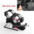 2 pcs 30mm Rifle Scope Laser Torch Mount Ring QD Lever Lock Tactical High Profile for
