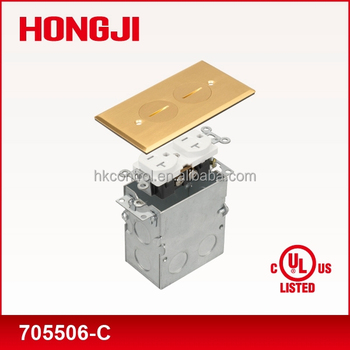 Waterproof Floor Box Cover Plate Assembly In Brass