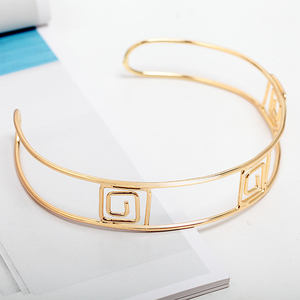 2018 New Fashion Gold Plated Cuff Metal Choker Necklace For Women Gift