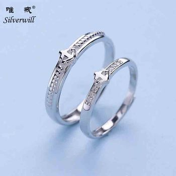 925 Sterling Silver Sailor Anchor Fancy Couple Rings For Gift Buy