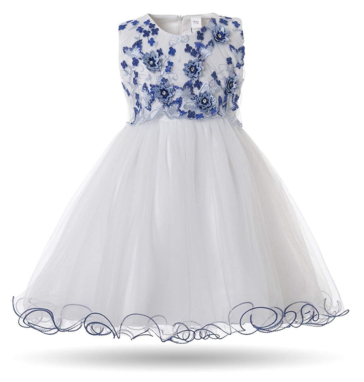 192a4c7c0 Get Quotations · CIELARKO Baby Girls Dress 3D Flower Infant Christening  Party Dresses for 0-24 Months