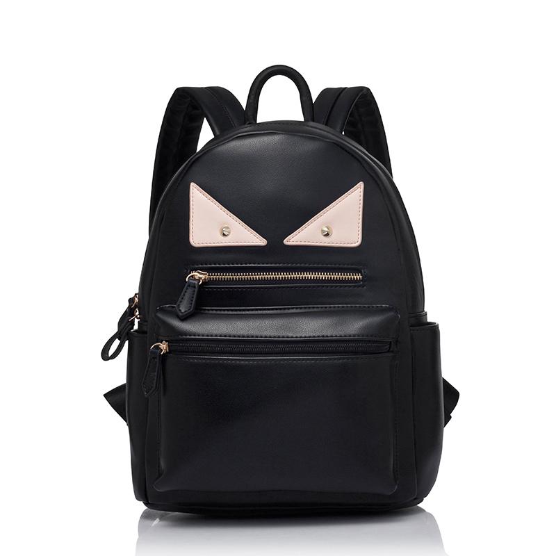9b32b22a75 Get Quotations · Backpacks PU Leather Backpack Kpop Women Bag Monsters Back  Pack School Backpacks For College Bolsa Feminina