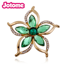 Pink Flower Korean Cheap Crystal Rhinestone Brooch For Wedding Invitation Cards