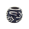 Newest Stainless Steel Big Hole Beads Famous In Western Make 5mm Big Hole Charm BXGZ048