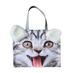 Factory directly sale wholesale 100 % polyester digital printing pet shopping bag