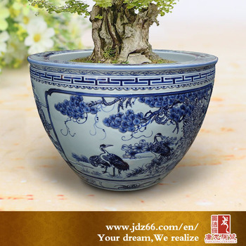 Large chinese blue and white outdoor flower pots ceramic buy large chinese blue and white outdoor flower pots ceramic mightylinksfo