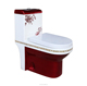 Sanitary ware flower red color ceramic toilet bowl