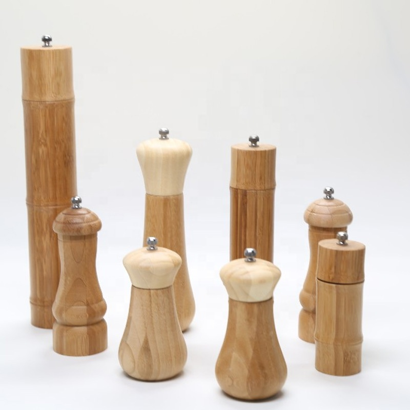 Wholesale Bamboo Pepper Mill Natural Bamboo Salt And Pepper Grinder