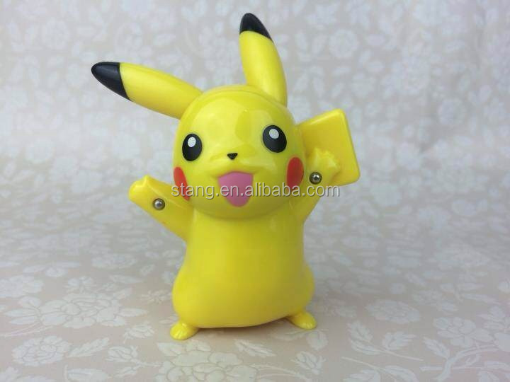 Pokemon Pikachu Vintage Plastic Battery Talking Figure Mint Tomy Giocattolo giapponese