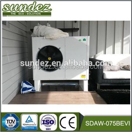 air to water evi low temperature heating and cooling function monobloc heat pump