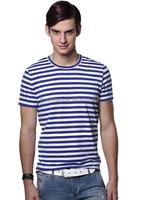 95% cotton 5% elastane t shirt stripe/men's yarn dye shirts / polo production cost