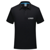 cheap pure color logo custom quick dry mesh soft thin fabric polo tshirt for men women