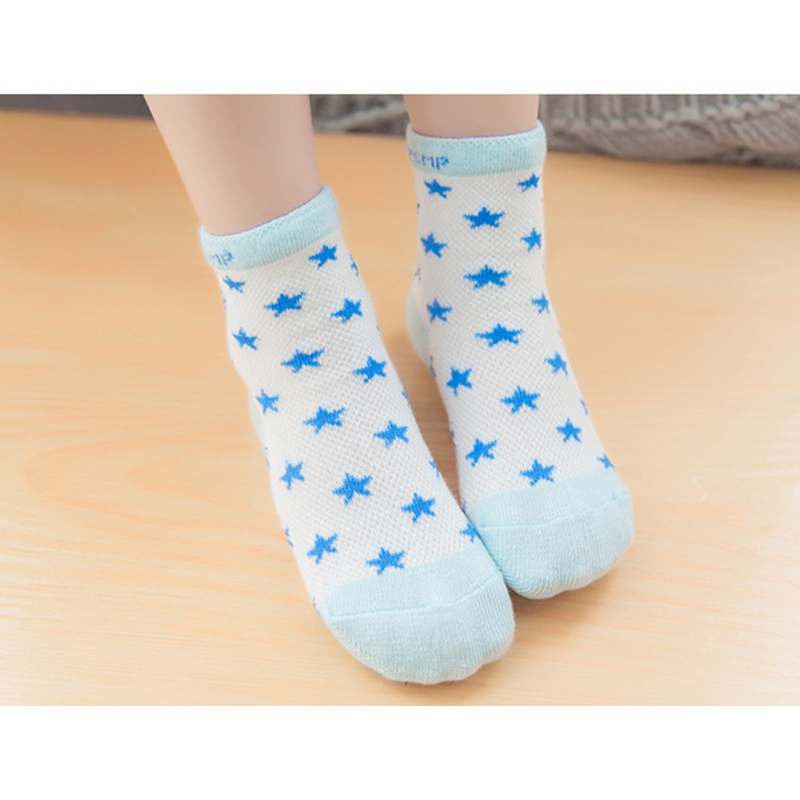 10 Pieces 5Pairs Baby Socks Boys Girls Spring Summer Cotton Socks Thin Section Short Socks Children