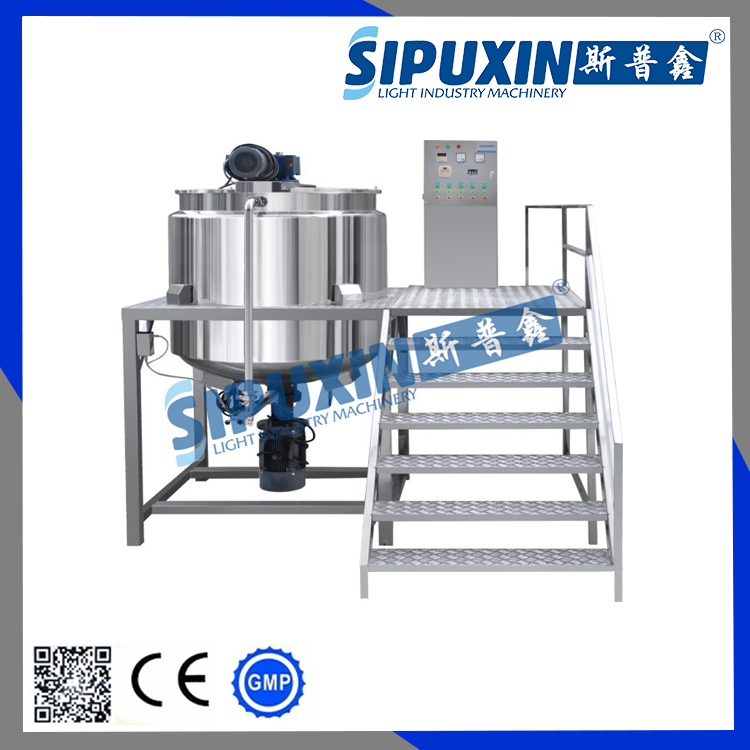 Sipuxin three jacketed oil blending tank with homogenizer
