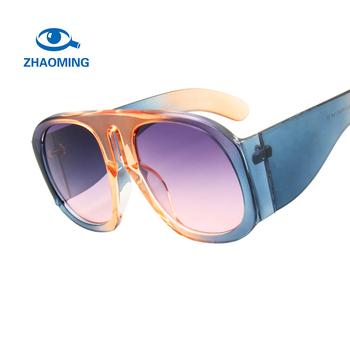 9735c0d98e78 zhaoming New Round Sunglasses Women Brand Designer 2018 Oversized Black  Vintage Sun glasses for Women Fashion