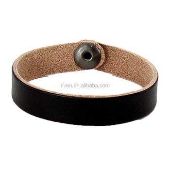 b2a04fd2af75 PK0465 nombre personalizado pulsera negro Delgado brazalete de cuero liso pulsera  pulseras