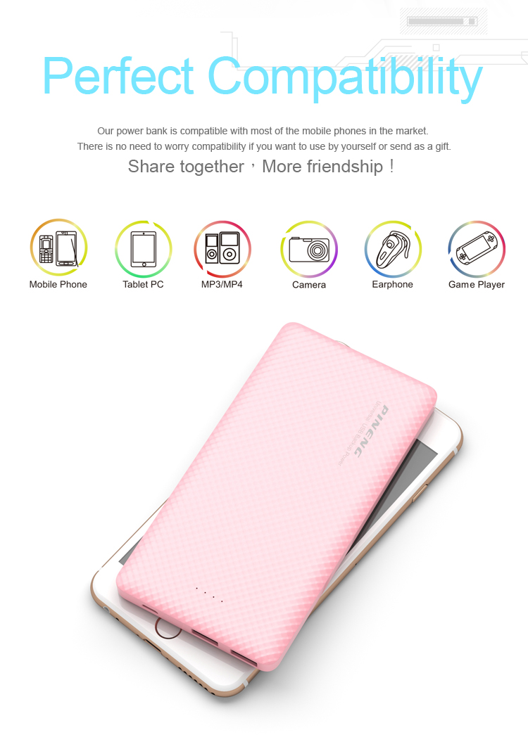Low price portable fashionable innovation Ultra-thin Credit Card 10000mAh Power Bank