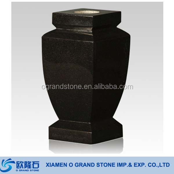 European Black Granite Flower Tombstone Vases Buy Tombstone Vases