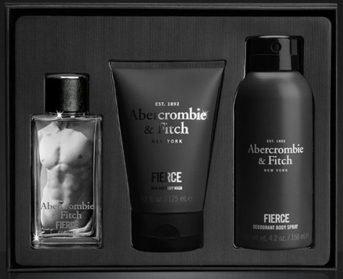Abercrombie & Fitch Fierce Eau de Cologne Gift Set for Men - (1.7 oz) Cologne, Hair & Body Wash and Body Spray