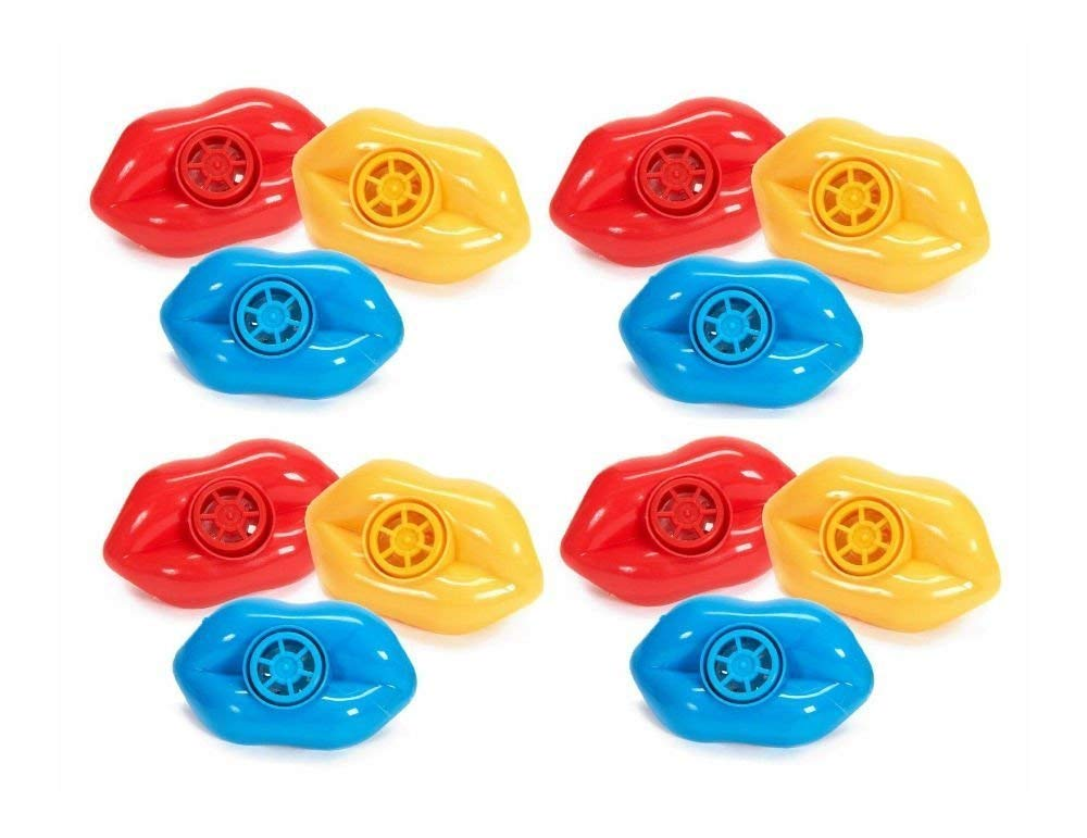 12 pcs Whistling Lip Whistles Party Favors Speech Therapy Oral Motor Skills