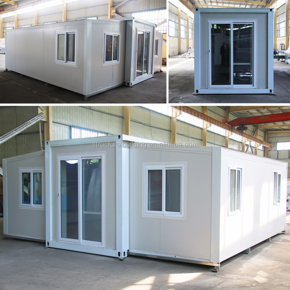 modern prefab single fabricated movable outdoor vacation expandable container house unit