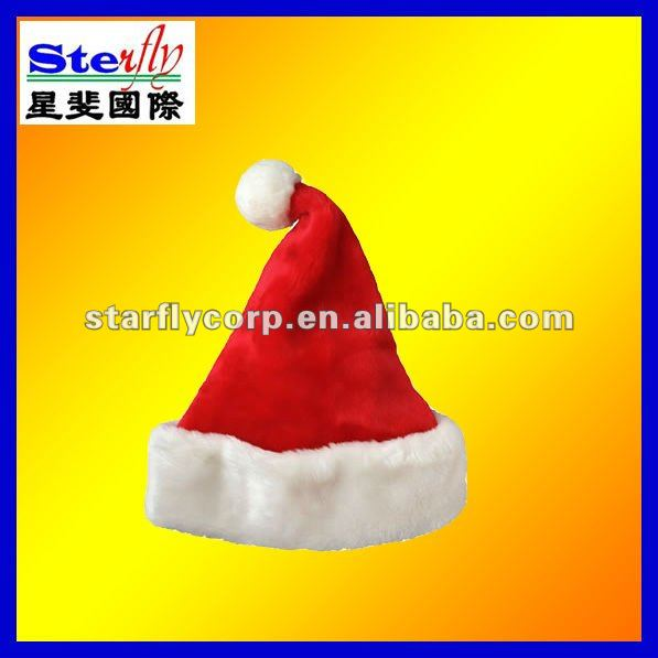 ST-FM01-1# cute plush christmas hats cotton/polyester/non-woven fabric