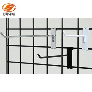 Grid wall hooks metal pegboard display hook for hanging items
