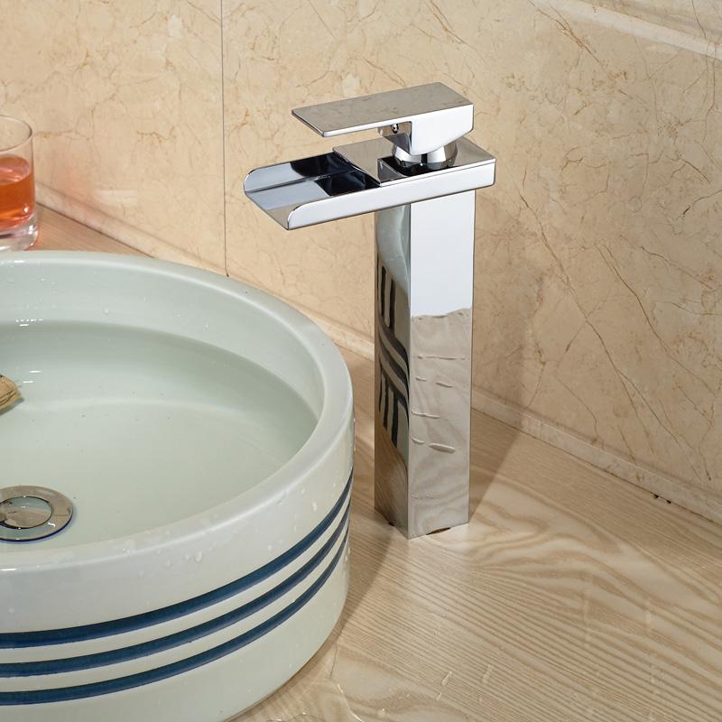 Wide Basin Bathroom Sink: Aliexpress.com : Buy Modern Wide Waterfall Bathroom Vessel