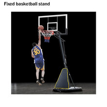 Movable screw jack lift adjustment basketball stand black basketball stand