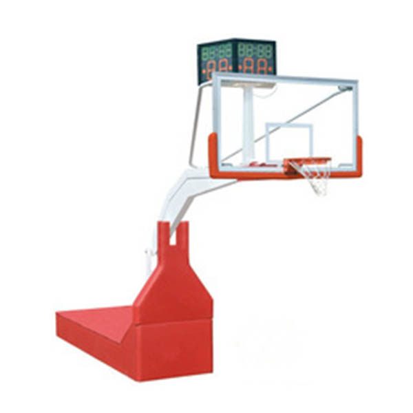 Professional electric hydraulic basketball stand basketball pole height