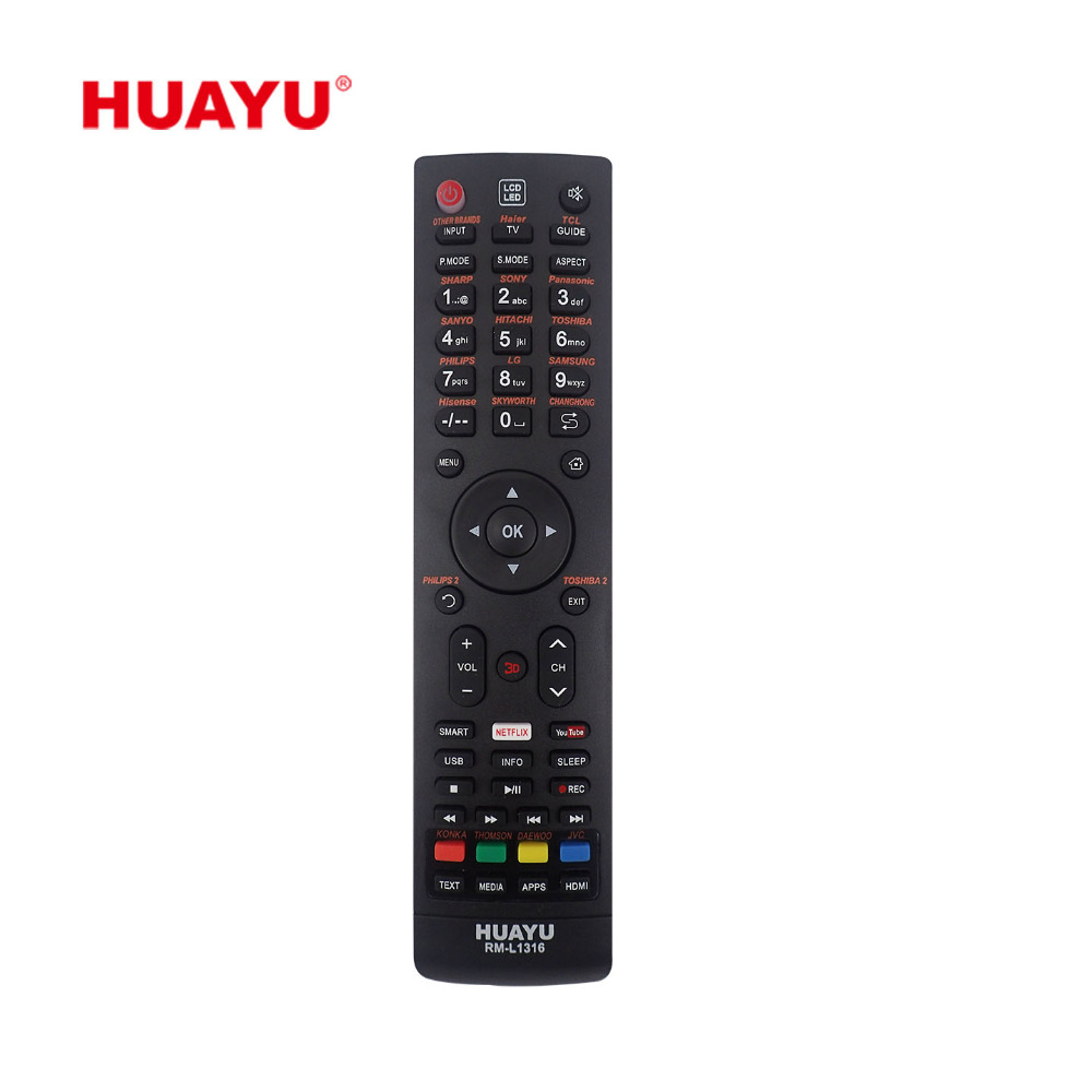 RM--L1316 HUAYU UNIVERSELE LCD LED TV AFSTANDSBEDIENING LCD CONTROLLER