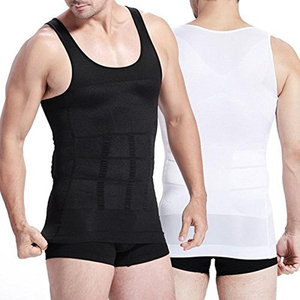 Men Slimming Vest Sculpting Sleeveless Compression Corset Body Shaping T Shirt