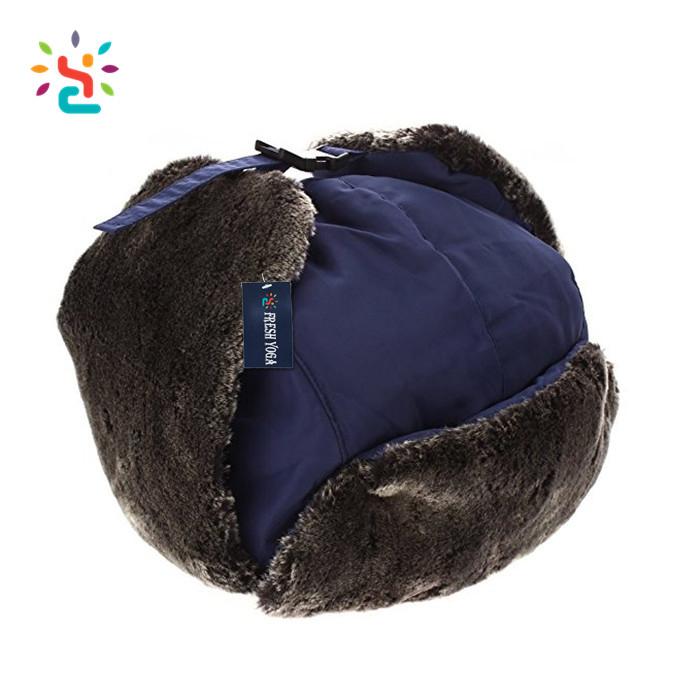 Faux sheepskin Fur Winter Mongolian Ushanka Trapper Style Hat for wholesale a4ed8c25d78
