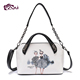 Fani OEM service custom design PU leather women shoulder bag fashion ladies bag