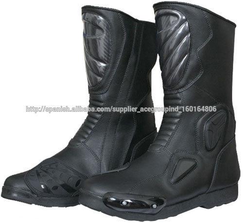 9a642e4da91 botas de montar botas para hombre de la policía botas de motociclista de  cuero de
