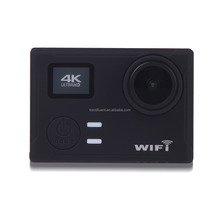 Action and Sports Camera 4K/30fps Video 12MP Raw Image with EIS, Live Stream, Voice Control, Waterproof Case - Black