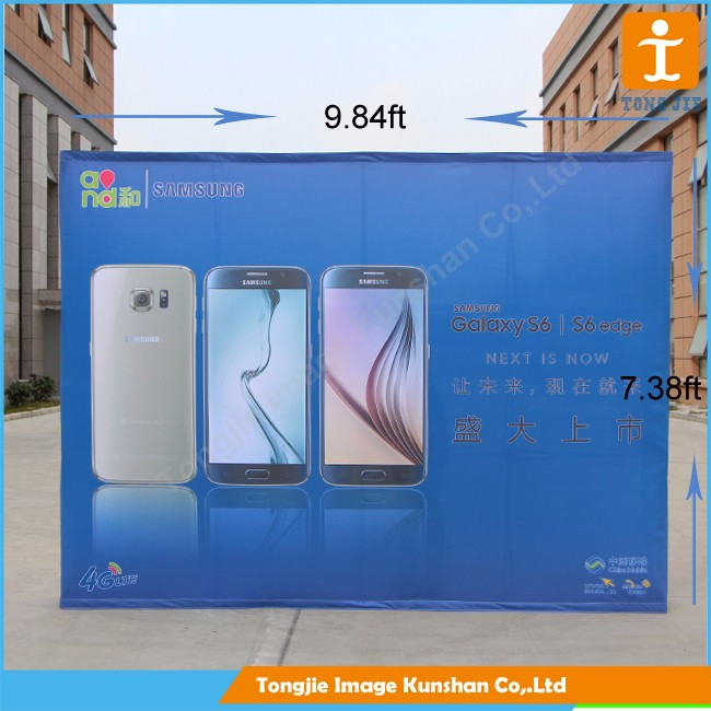 Hot sale arc shape advertising pop up display