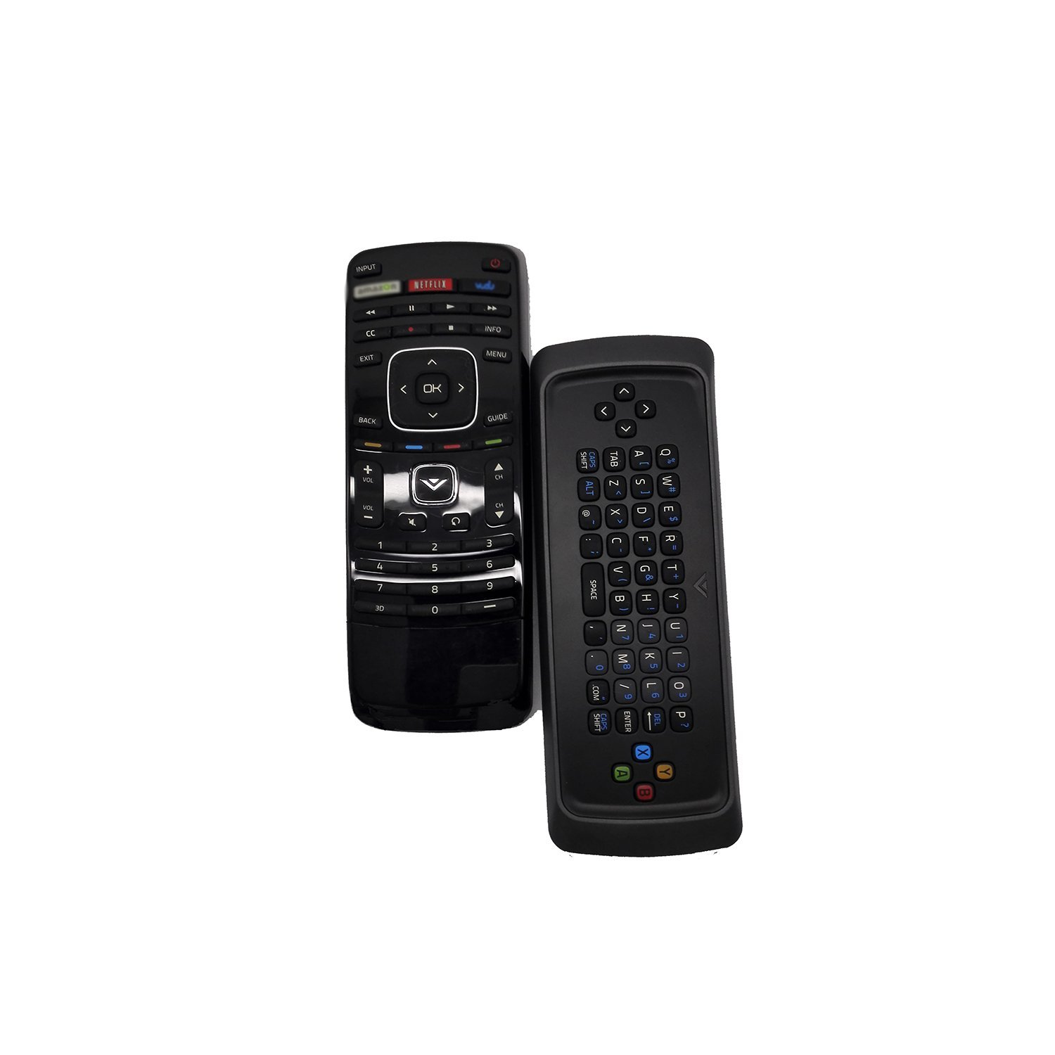 econtrolly New Dual Side Keyboard QWERTY Remote XRV13D XRV1D3 Fits for Vizio 3D TV