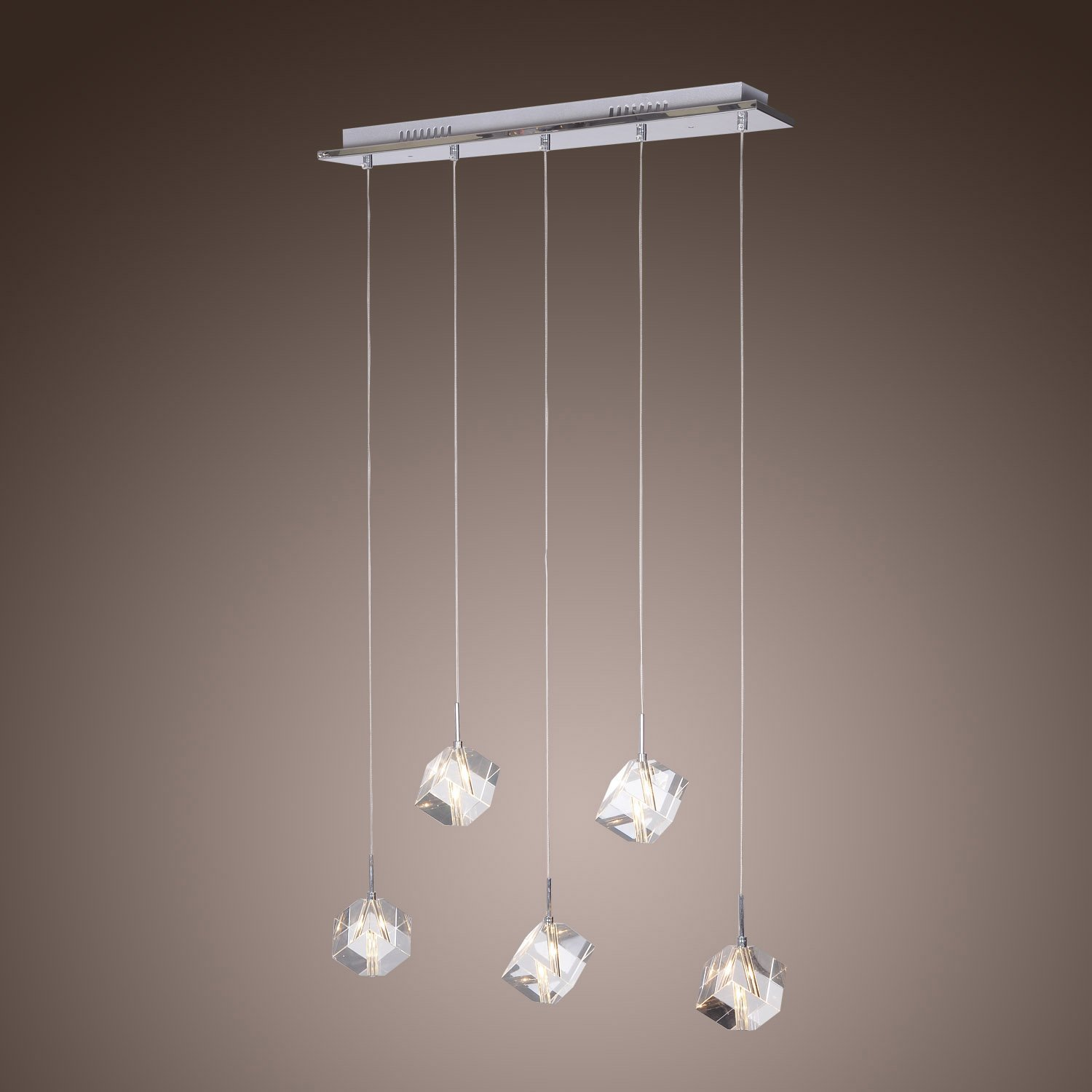 Get quotations · lightinthebox k9 crystal bar pendant light with 5 lights modern home ceiling light fixture flush