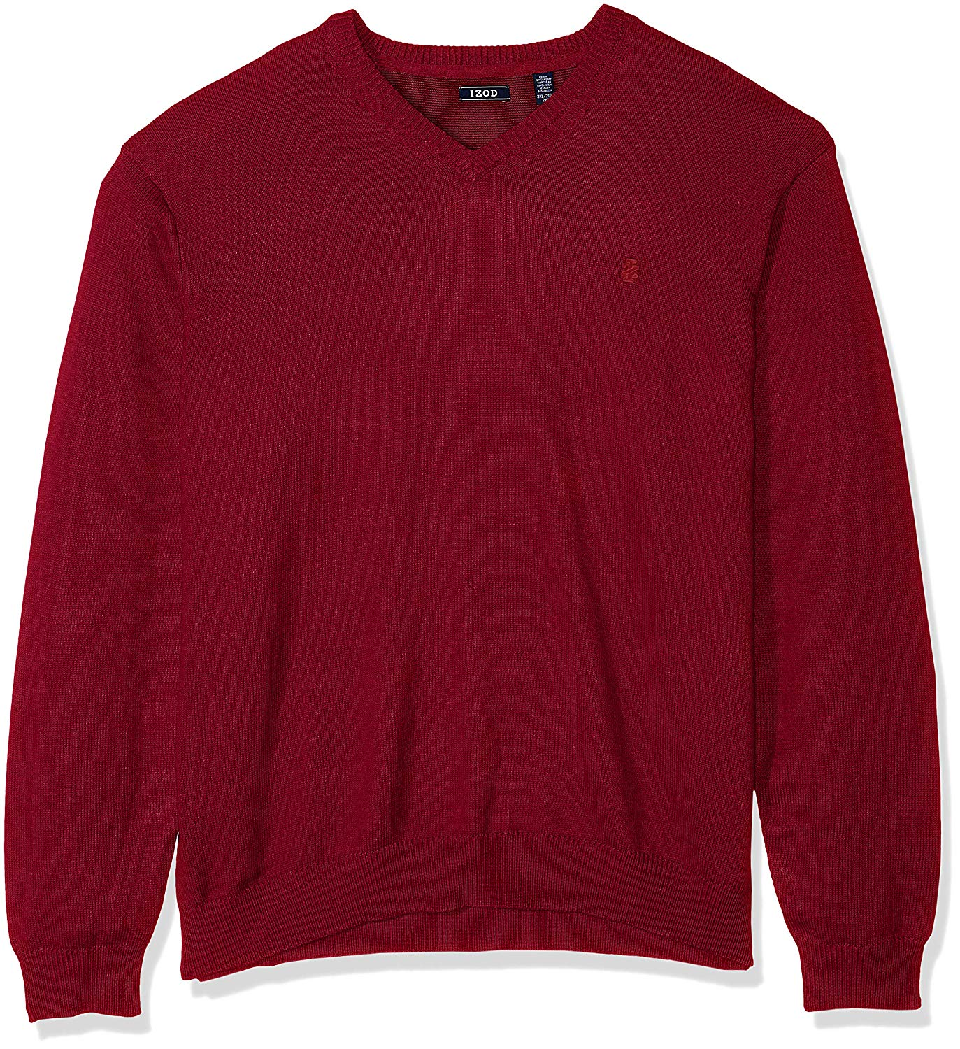 IZOD Men's Big and Tall Premium Essentials Fine Gauge Solid V-Neck Sweater, Biking Red, 2X-Large